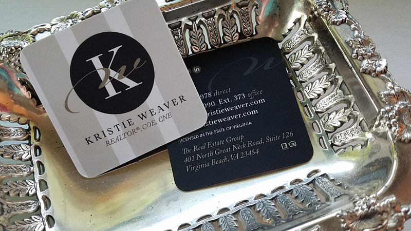 kristie weaver realtor cards